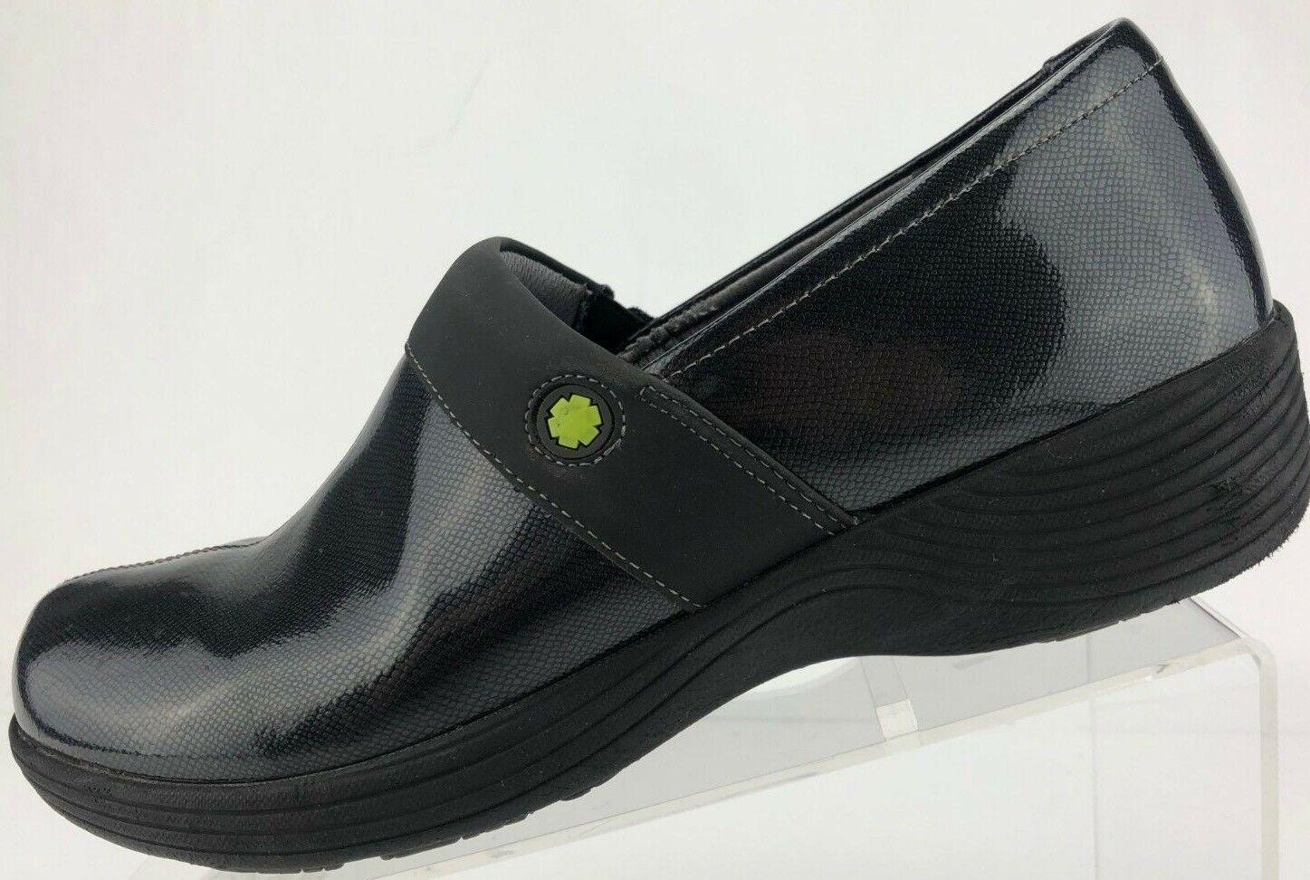 Work Wonders Dansko Clogs Camellia Black Patent Leather shoes Womens Womens Womens 41 10.5 11 80544c