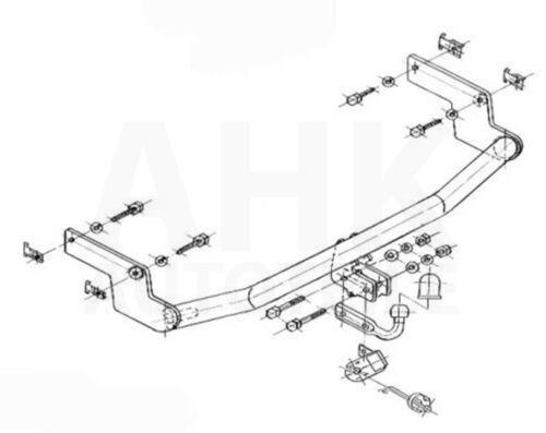 Peugeot 206 3//5-Tür Fließheck 98-03 Anhängerkupplung starr+E-Satz 7p