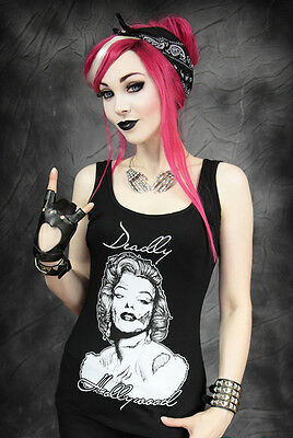 Restyle Tank Top Zombie Marilyn Skelett Hollywood Monroe Gothic Steampunk RT19