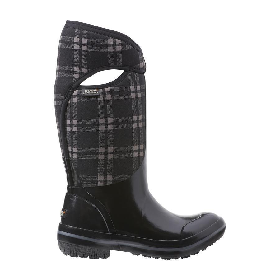 Bogs Bogs Bogs Mujer playera a cuadros de alto Impermeable Negro botas 71785-001  Venta al por mayor barato y de alta calidad.