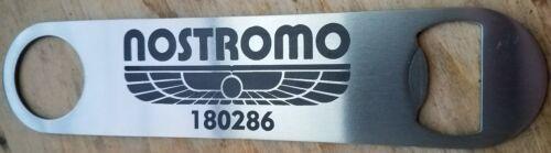 Nostromo alien stainless steel bottle opener//church key