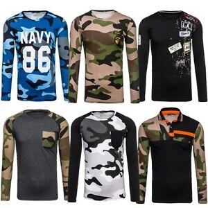 Bolf-hombre-camisa-manga-larga-SWEATER-SUDADERA-Militar-Camuflaje-MIX-1a1