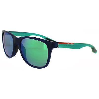 Prada Sport Sunglasses 03OS OAI1M2 Blue & Green Green Mirror