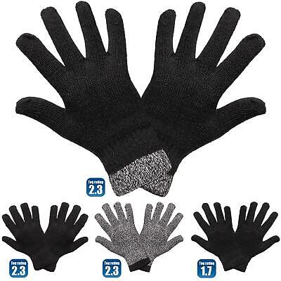 Men/'s Black Thermal Warm Stretch Knitted Winter Gloves