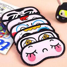 Cute sleeping eye mask Cover Blinder travel sleep aid rest shade Blindfold Hotly