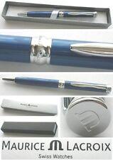 - MAURICE LACROIX Swiss Kugelschreiber Geschenkbox Drehkugelschreiber Oceanblue