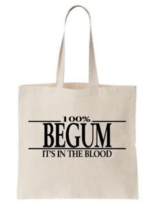 Begum-Familienname-Schultertasche-Einkaufstasche-Geschenk-Baum-cool