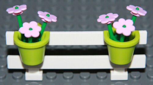 ☀️NEW LEGO City White Fence w// Flowers Belville House Garden Girl Minifigure #8