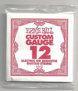 Pack-6-ERNIE-BALL-Personnalise-de-CALIBRE-12-Simple-Cordes-electrique
