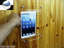 Universal Clear Acrylic Wall Tablet Holder Stand Mount Easel Display
