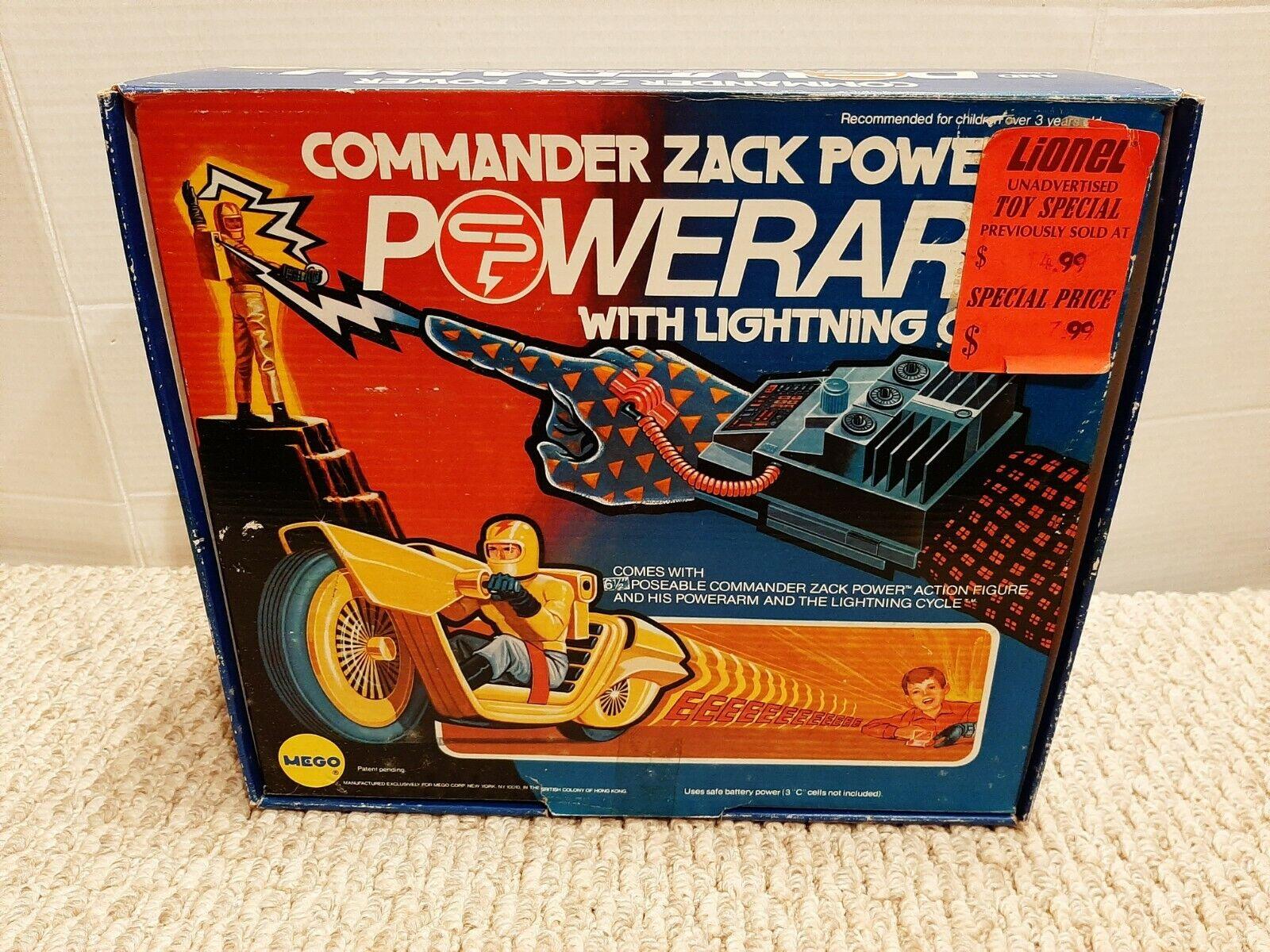 Vintage 1975 Mego Toys Commander Zack Powerarm Cycle MIB New Old Stock Mint