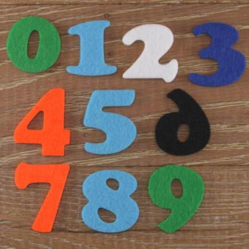 Cooper Noir numéro set 3mm feutre numéros 0-9 10 caractères tailles 5-12cm