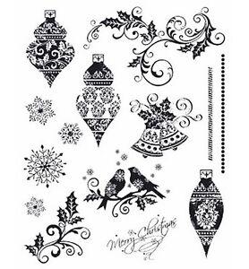 Viva-Decor-Clear-Stamps-Motivstempel-Schnoerkel-Ornamente-Weihnachtskugeln-D11