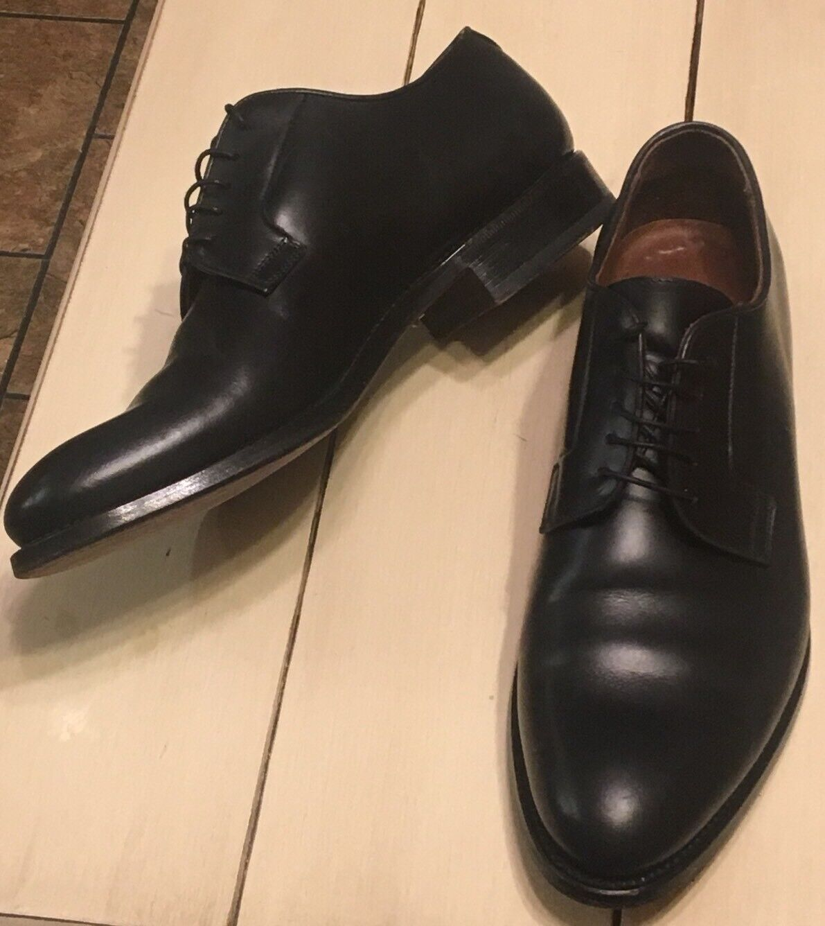 Lendvay & Schwarcz Black Leather shoes Made in  Size Mens US 11 EU 44.5