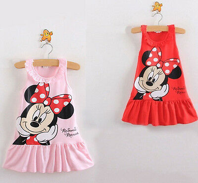 Hot Sale Toddle Baby Girls Minnie Mouse Cartoon Tops Kids Clothes Party Dress Special Summer Sale