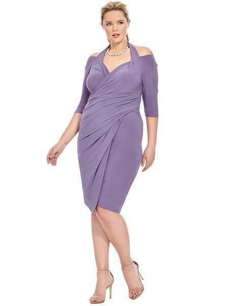 Kiyonna Kiyonna Kiyonna size 3 Foxfire faux wrap dress pale purple plus size 22 24 58f53a