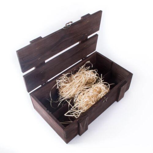 Marron Foncé Vin 2 bouteille boîte de présentation/bottlebox/Coffret Cadeau/Stockage Caisse