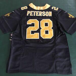 44 L BLACK New Orleans Saints Peterson #28 Home Elite Jersey  supplier