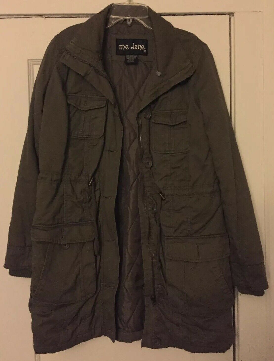 Me Jane Olive Green Military Trench Coat/Jacket S… - image 4