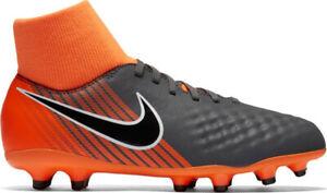 nike football boots grey and orange