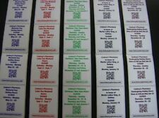 Custom Printed Labels 500 Rectangle 25 X 4 Business Stickers 1 Color Ink
