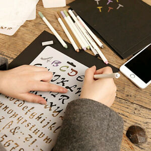 DIY Hollow Flowers Drawing Manual Painting Board Template Stencil Icon Tool