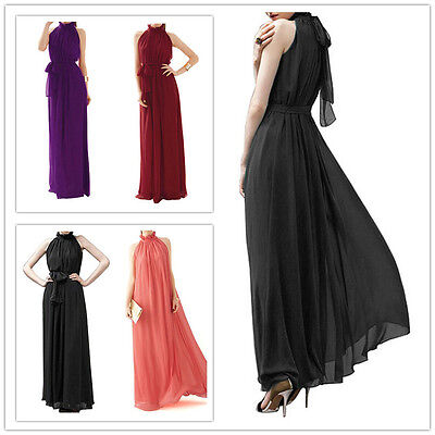 Long Chiffon Bridesmaid Formal Gown Ball Party Cocktail Evening Prom Dress Beach