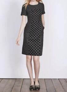 Boden-Winter-Wool-Spotted-Dress-Uk-16-L-Knee-Warm