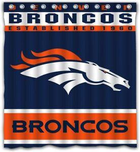 Denver-Broncos-Fabric-Waterproof-Shower-Curtain-W-12-Hooks-Bathroom-Decor-Gifts