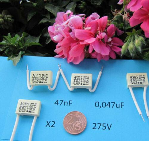 0,047uf,     47nf 5 stück Entstör Kondensator MKT X2  275V