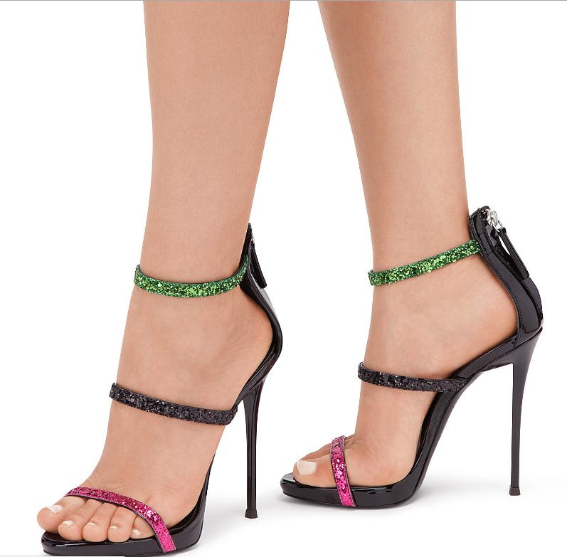 Retro Da Donna Punta Aperta Europeo Sandali Cinturino Alla Caviglia Tacco Alto Scarpe UK Sz35-46