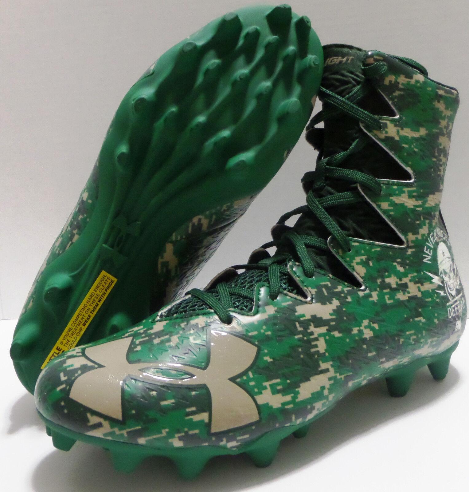 Under Armour Highlight MC LE Football Cleats 1289771-312 Camo verde 9.5 10.5 11