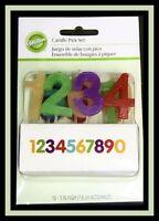 Wilton Numbers Candle Pick Set Nip 701