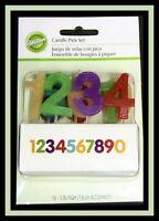 Wilton Numbers Candle Pick Set Nip 701