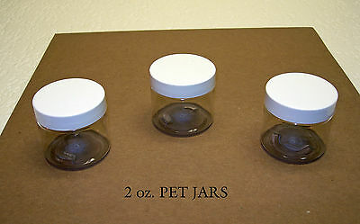 2 oz  PET Plastic Jars Travel Size Containers with Cap Lot & Color You Pick