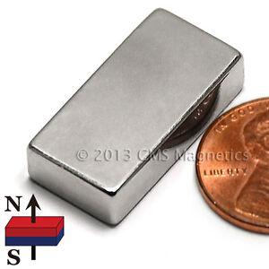 "N45 Neodymium Magnets 1x1/2x1/4"" NdFeB Rare Earth Magnets 12 PC"