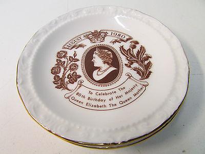 2 Royal Albert ~ Queen Elizabeth 80th Birthday Commemorative Plate - 1980