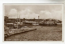 Plymouth Hoe And Pier - Real Photo Postcard 1937