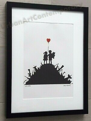 Certificat Edition CADRE INCLUS Banksy Lithographie Signed Numbered on 150