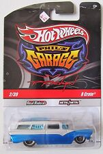 HOT WHEELS PHIL'S GARAGE  8 CRATE BLUE & SILVER  #2/39  NOTE: CREASED CARD