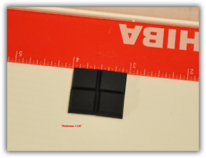 """Anti-Skid Rubber Pads Self Adhesive for notebook and desktop 1//2/""""x1//2/"""" square US"""