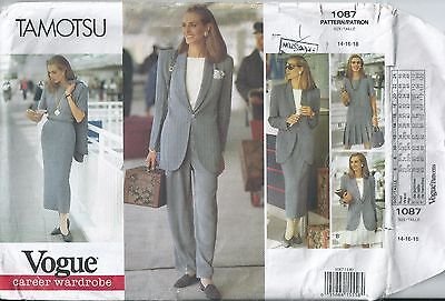 Vogue Pattern 1087, Tamotsu design - 1993
