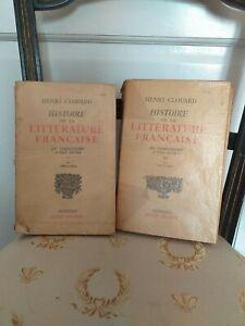 Henri Couard : Histoire de la Littérature Française 2 Tomes - Albin Michel 1948