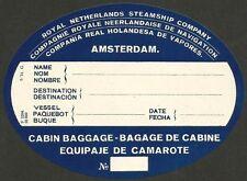 Royal Netherlands Steamship Company 1931 Luggage Label  Ӝ