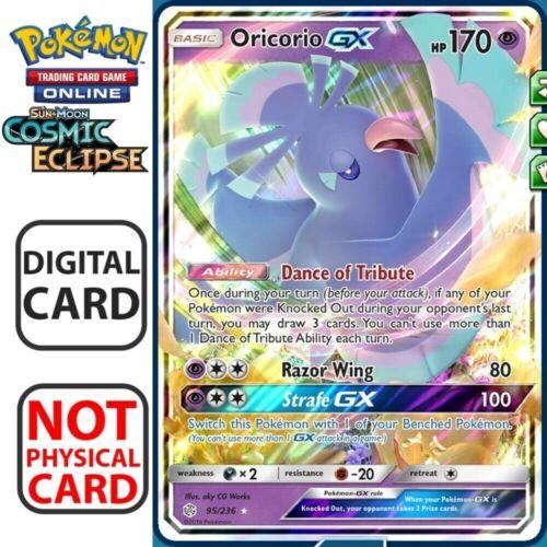 Oricorio-GX PTCGO Cosmic Eclipse Pokemon Online TCG Codes In-Game