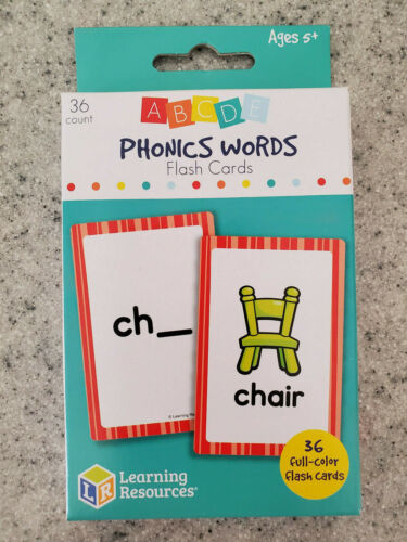 Shapes Sight Words Phonics NEW Learning Resource Flash Cards-Math Colors