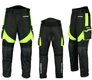 Men-Waterproof-Motorbike-Motorcycle-Trouser-Pent-Gears-CE-Armoured-Lined-Green