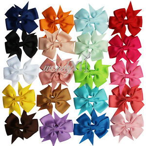 20-PCS-BABY-GIRL-CHILD-GROSGRAIN-RIBBON-BOW-HAIR-CLIP-PIN-ALIGATOR-CLIPS-FLOWER