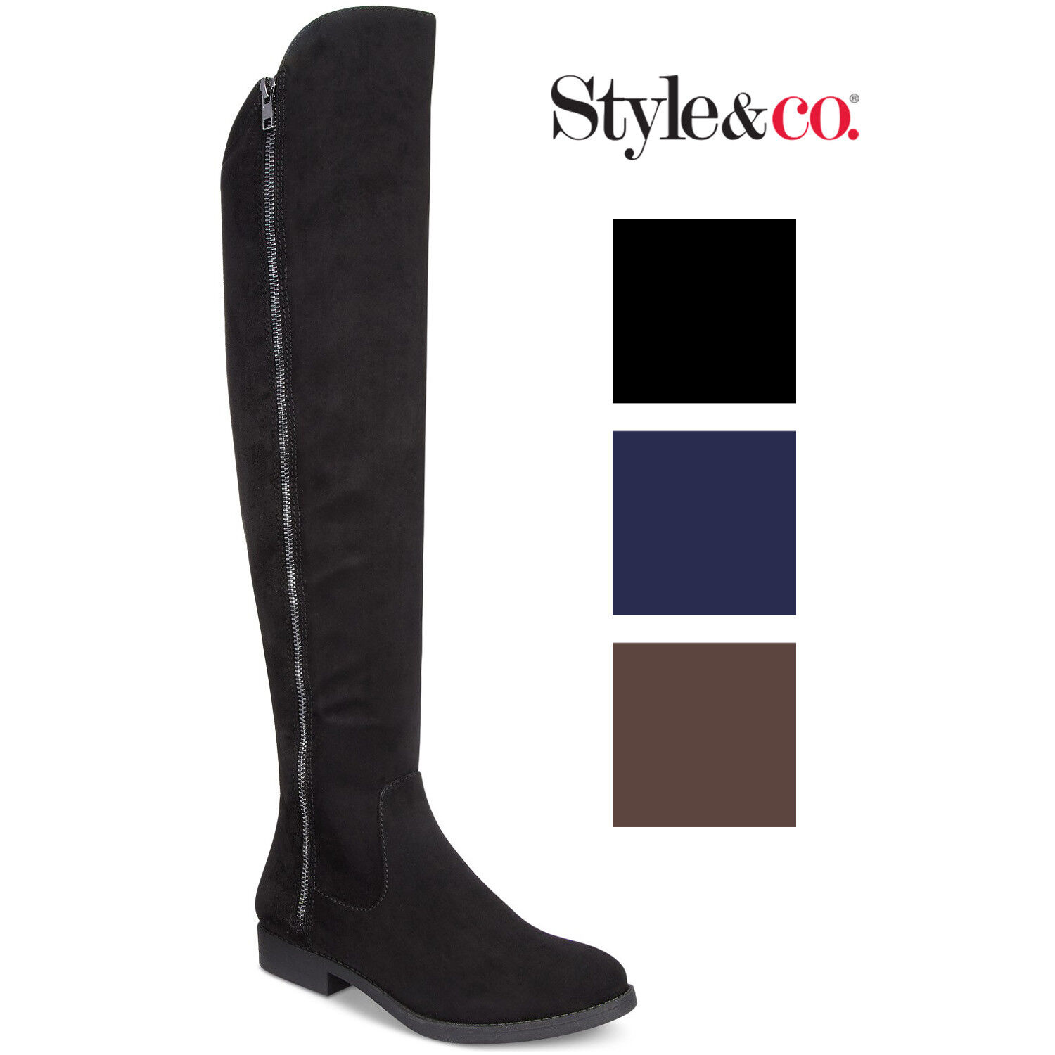 Style & Co Womens Hadleyy Over-The-Knee Boots