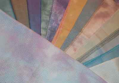 ZWEIGART//SILKWEAVER 14 Count Hand Dyed Aida Fabric for Cross Stitch CHOOSE!